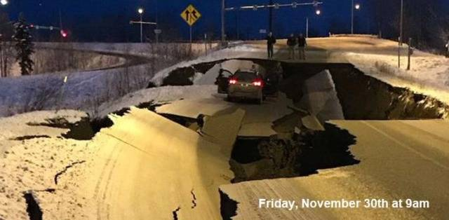 November 30th – Road Collapsed. December 4th – Everything Is Fixed