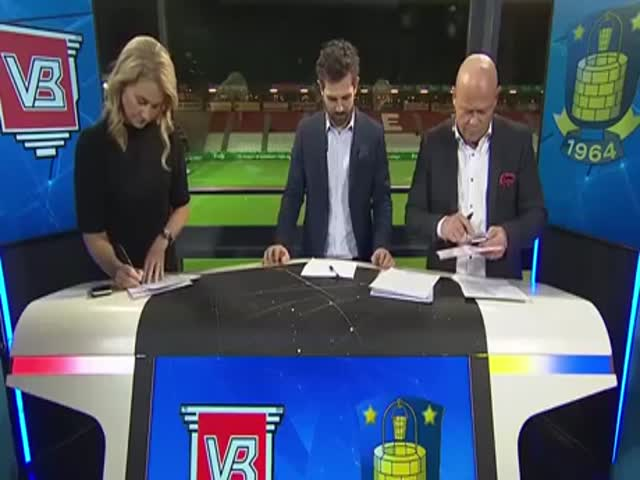 Danish Sports Anchor Spices Up The Live Broadcast