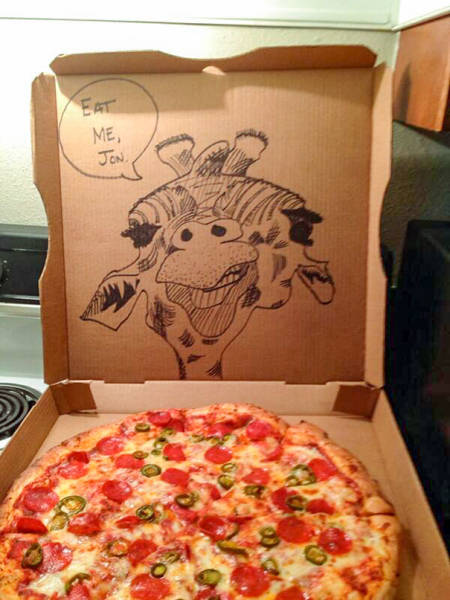 When Pizza Places Do Everything To Make You Smile