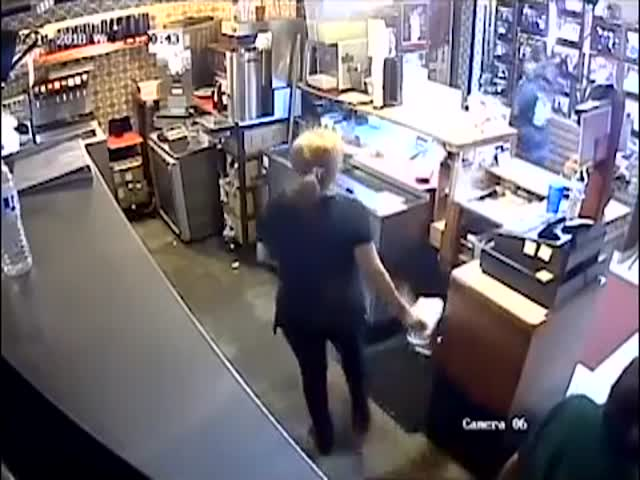 A Single Robber Against A Full Mexican Restaurant