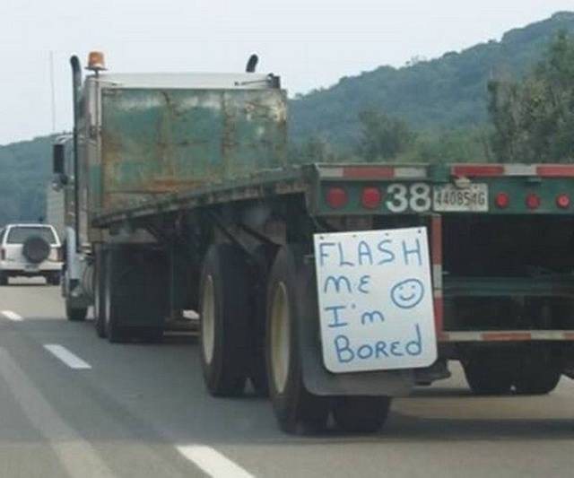 Truck Drivers Have Their Own Sense Of Humor