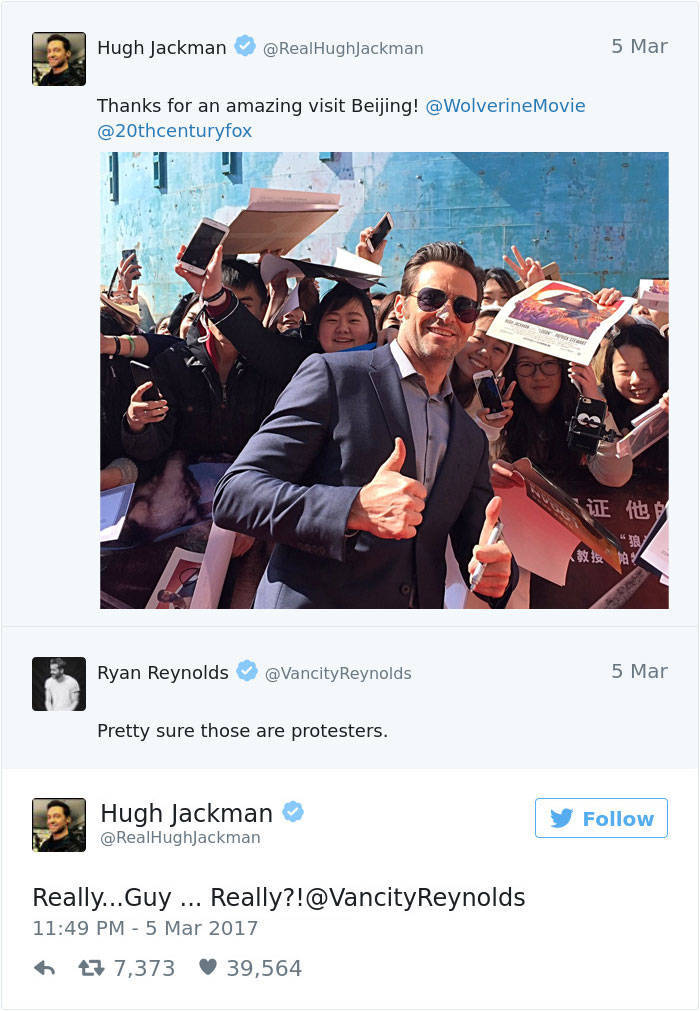 Ryan Reynolds And Hugh Jackman Is A Never-Ending Bromance
