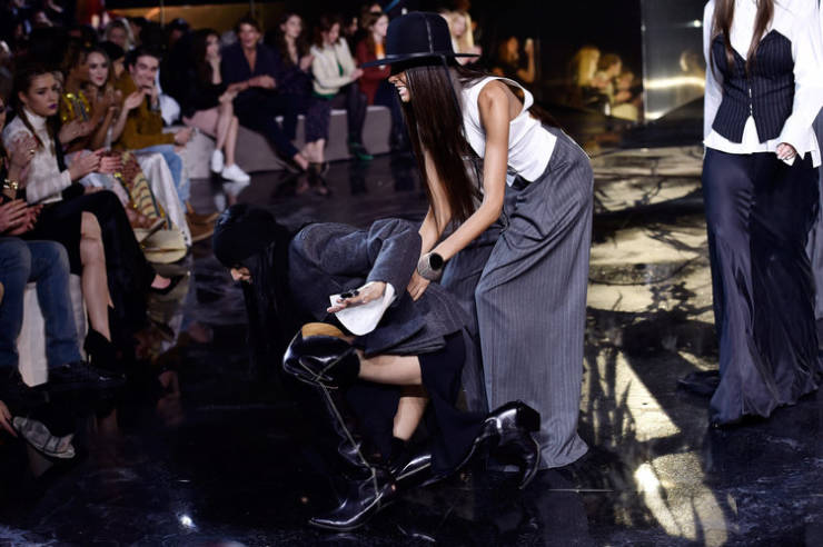 Walking The Runway Is A VERY Dangerous Job For These Models