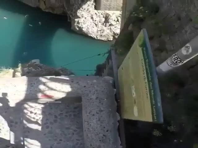 An Insane Cliff Jump!