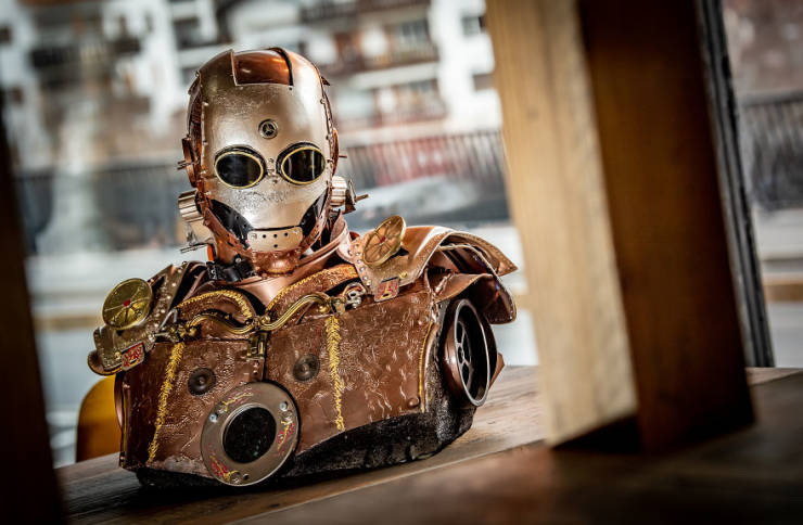 Artist Creates Incredible Steampunk Sculptures Of Pop Culture Characters