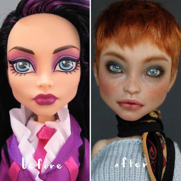 Artist Turns Unrealistic Dolls Into Real Women