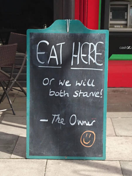 It's Impossible To Ignore These Sidewalk Signs