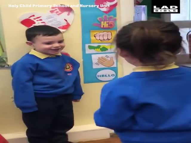 The Cutest Greeting Ritual At A Nursery School