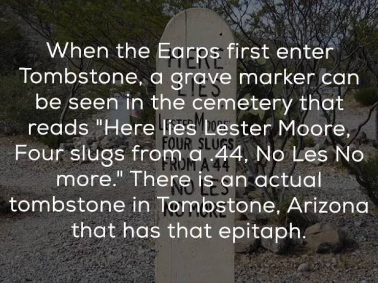 "Buckle Up, It's Time For Some ""Tombstone"" Facts"