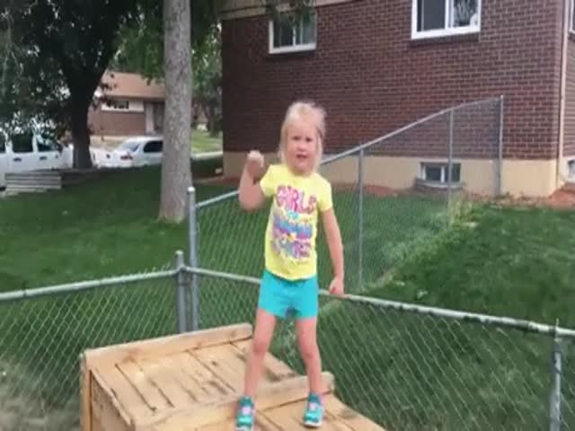 This Girl Can Be A Real Ninja Thanks To Her Dad