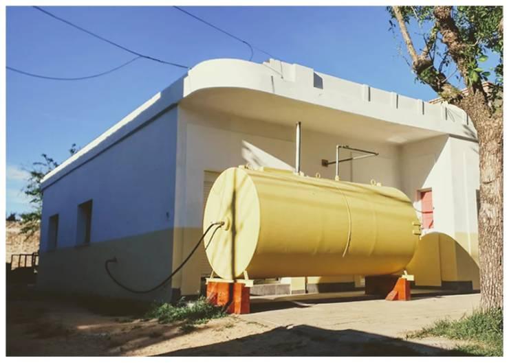 A Home Inside An Oil Tank