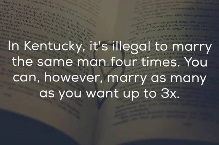 According To These Laws, Marrying Someone Almost Makes You A Criminal