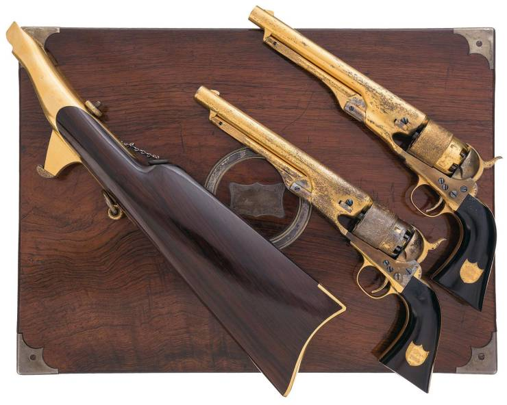 Model 1860 Colt Revolvers Which Were Used In Armies