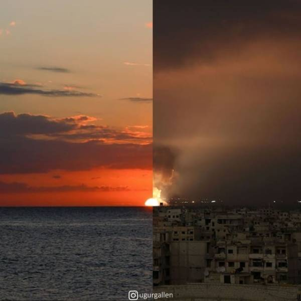 The Contrast Between The Two Worlds That We Currently Live In By Combining Photos