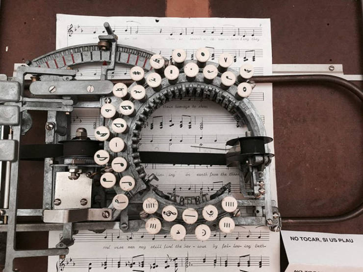 It's Not Your Usual Typewriter. It's A Music Typewriter!
