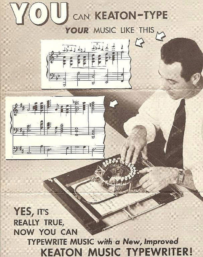 Ez nem a szokásos írógéped.  Ez egy zenei írógép!