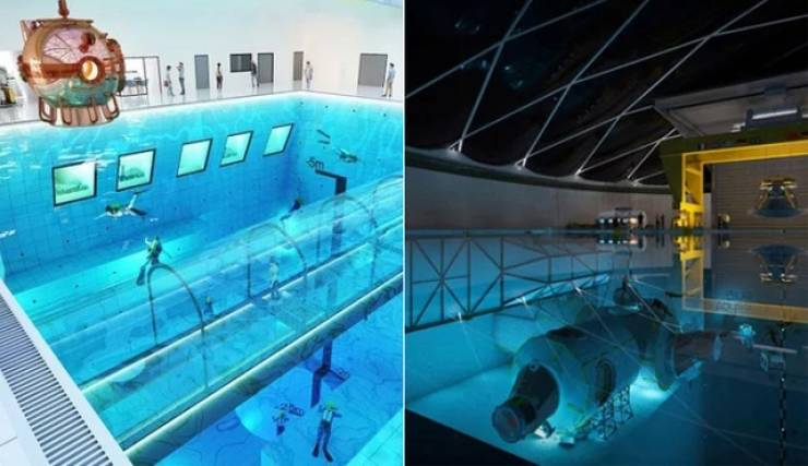 World's Deepest Swimming Pool Doesn't Look Very Safe