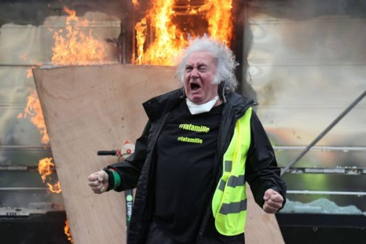 Man Rioting In Paris Is A New Photoshop Battle Hero