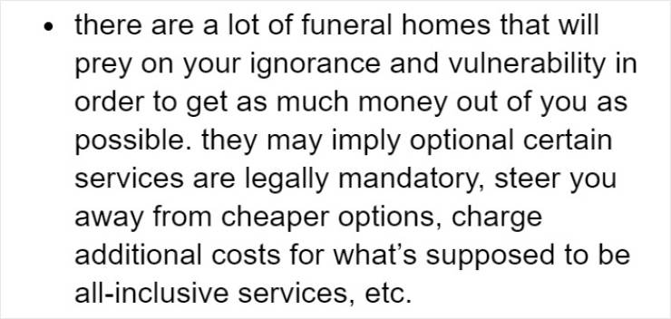 """""""Fun Funeral Facts"""" Are Not Very Fun"""