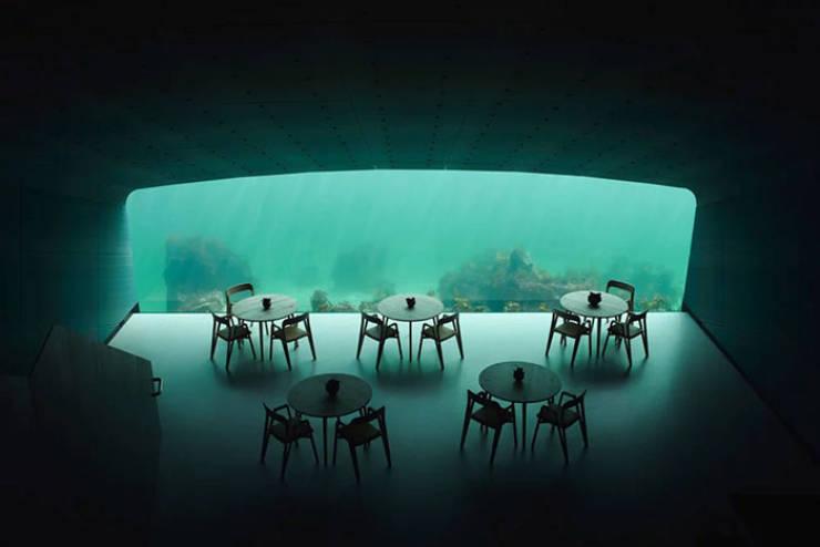 Norvégia most az első és a legnagyobb víz alatti étterem