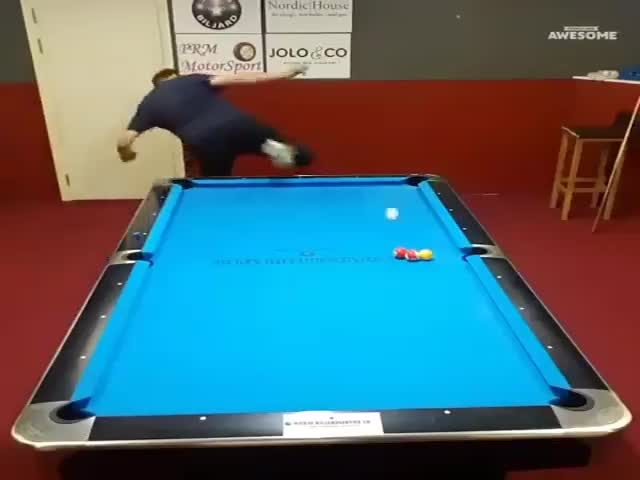 A Real Trick-Shot Virtuoso