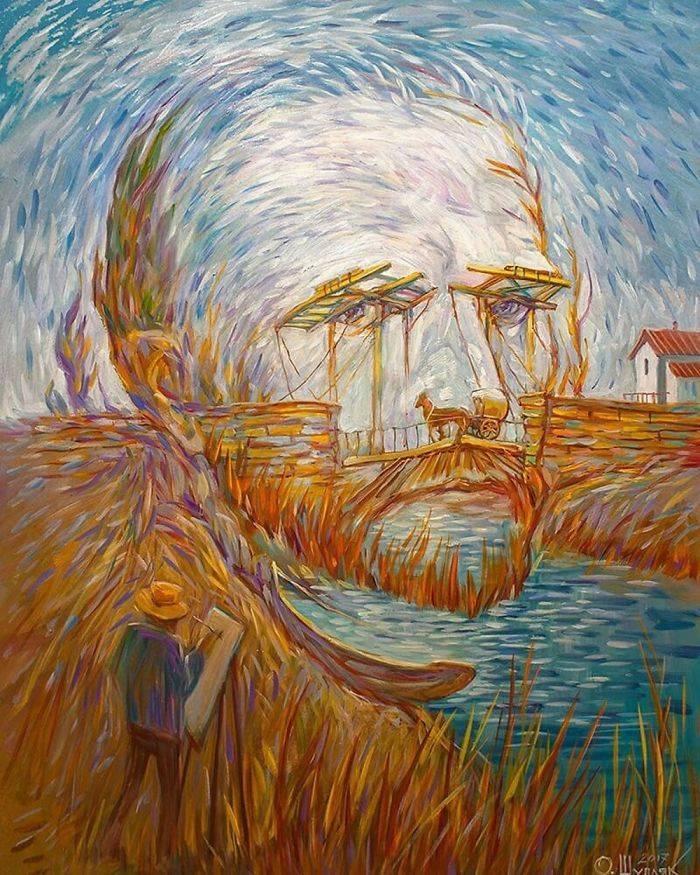 illusions optical famous artist uses draw past ukrainian masterfully izismile