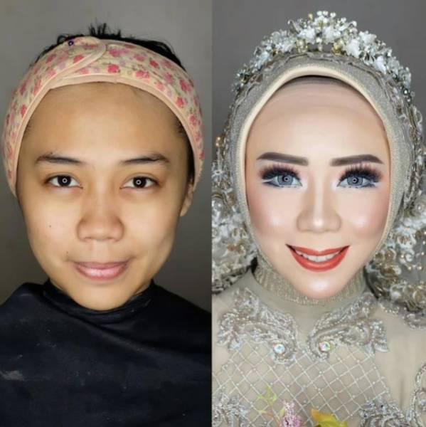 Asian Brides Look Somewhat Unnatural With Their Wedding Makeup On