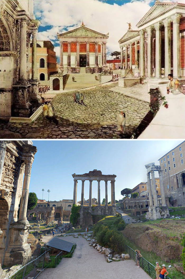 How Ancient Roman Structures Changed Since Their Prime
