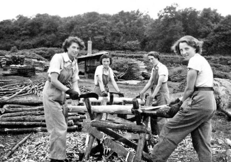 Women Who Worked As Lumberjacks During World War II