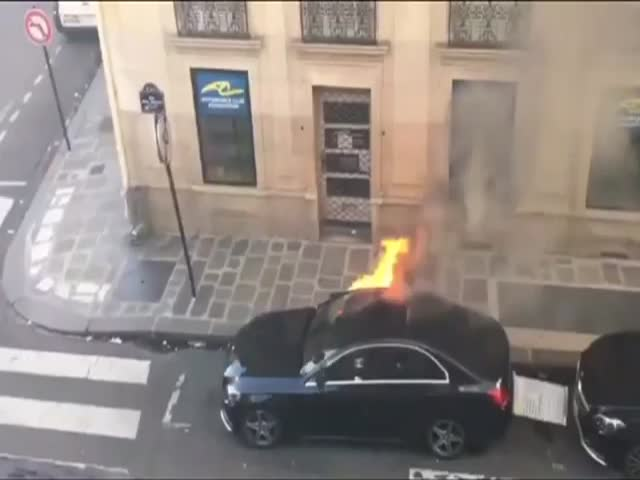 French Way Of Putting Out A Car Fire