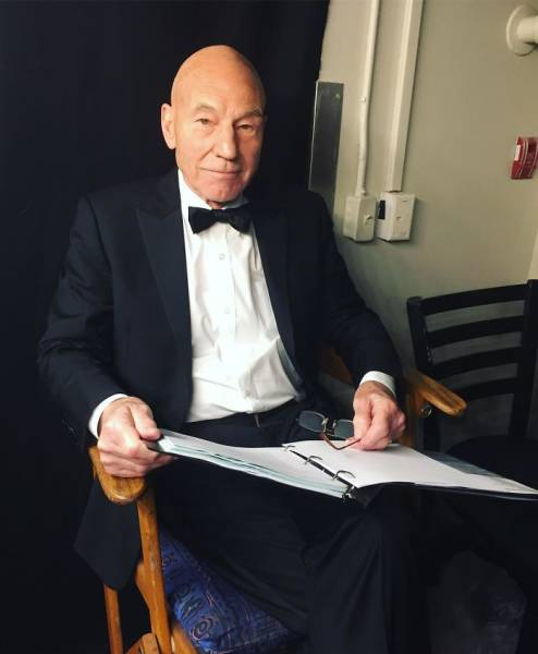 Patrick Stewart Adopts Yet Another Dog, And They Are Adorable Together