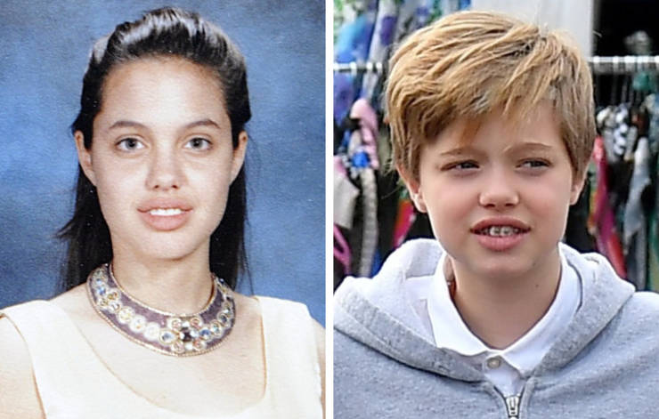 How Celebs Were Looking When They Were Young, Compared To Their Children Now