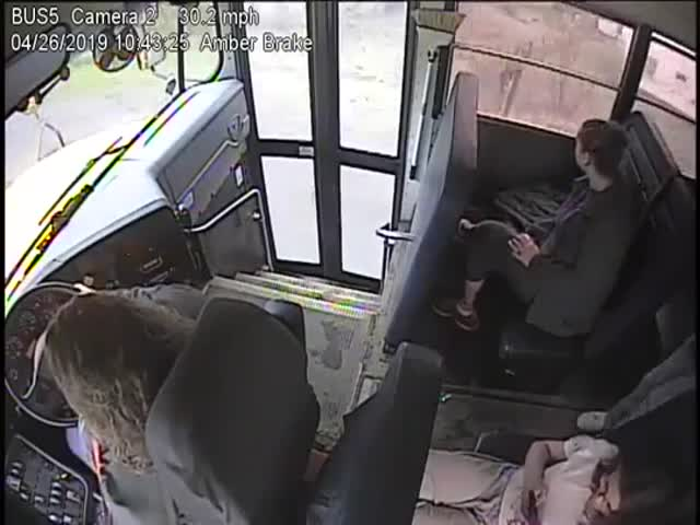 Bus Driver With A Life-Saving Reaction Time