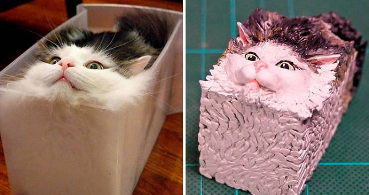 Japanese Sculptor Creates Real Life Versions Of Animal Memes