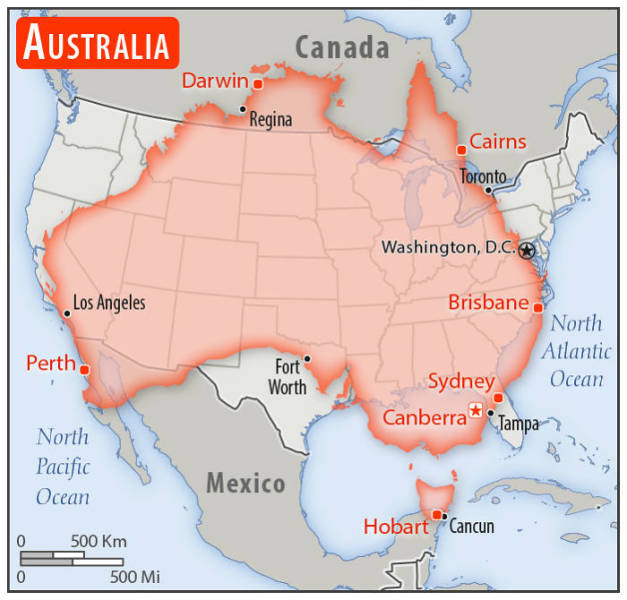 So, How Do Different Countries Really Compare To The Size Of The United States?
