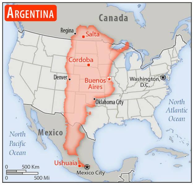 Szóval, hogyan különböznek a különböző országok az Egyesült Államok méretének?