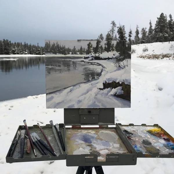 Artist Seamlessly Combines Paintings And Photos Of Nature, And The Results Are Beautiful