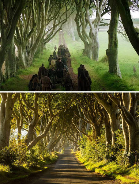 """Game Of Thrones"" Filming Locations In Real Life Vs. In The Series"