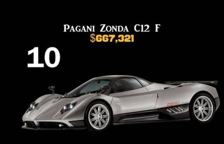 Top Ten Of The Most Expensive Cars