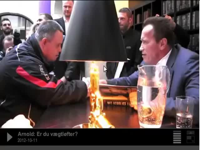 Arnold Schwarzenegger Supports A Man With Down Syndrome