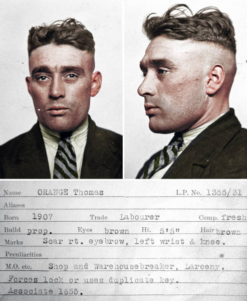 Colorized Mugshots Of Criminals From The 30's And Their Stories