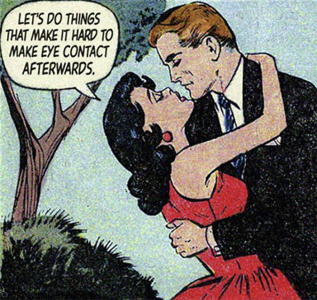 When Modern Love Is Combined With Vintage Romantic Comics