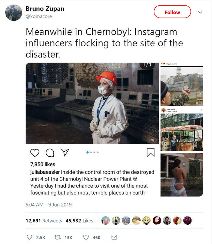 "HBO ""Chernobyl"" Creator Has A Message For Influencers Who Come To The Site Of The Tragedy"