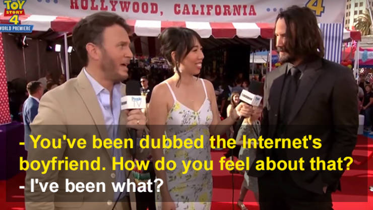 Keanu Reeves Finds Out That He Is The Internet's Boyfriend Now