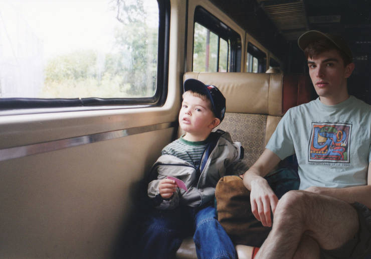 Guy Hangs Out With The Child Version Of Himself With The Help Of Photoshop