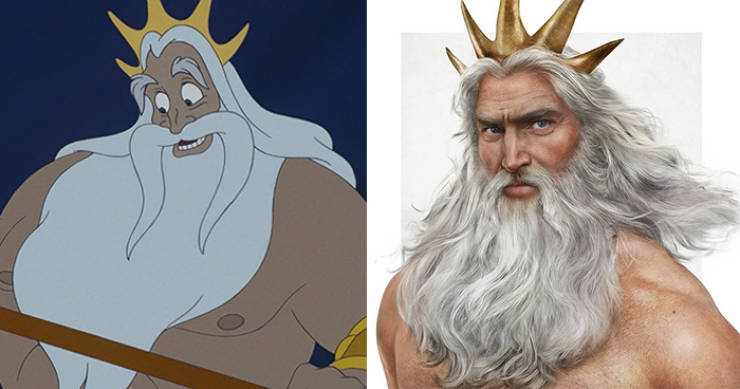 Finnish Artist Creates Realistically Looking Renditions Of Disney Dads