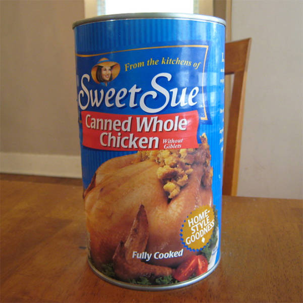 In The US, You Can Buy A Whole Cooked Chicken… In A Can