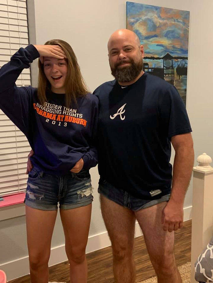 Dad Teaches His Daughter A Lesson About Wearing Short Shorts