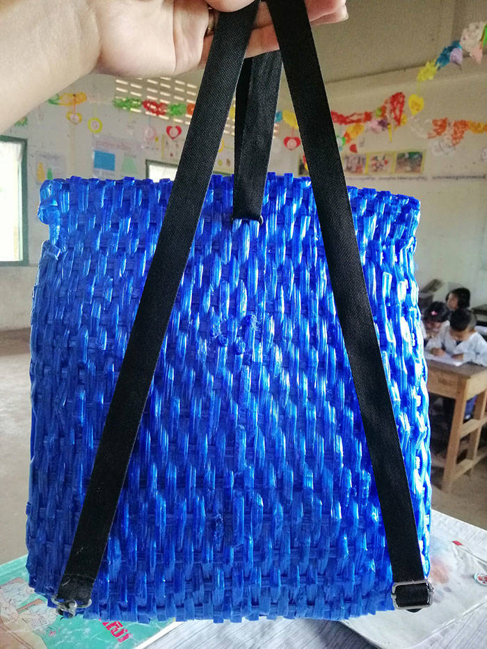 Cambodian Father Who Couldn't Afford To Buy His Son A Backpack Crafts One Instead