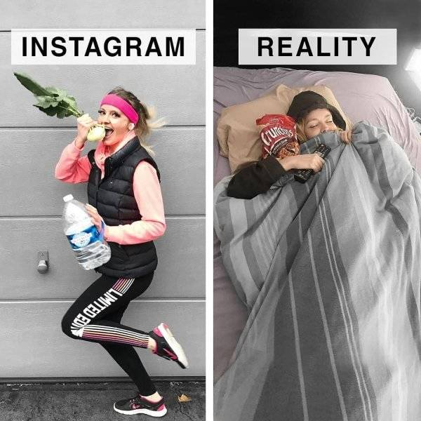 Instagrammer Shows How Far Instagram Is From Reality